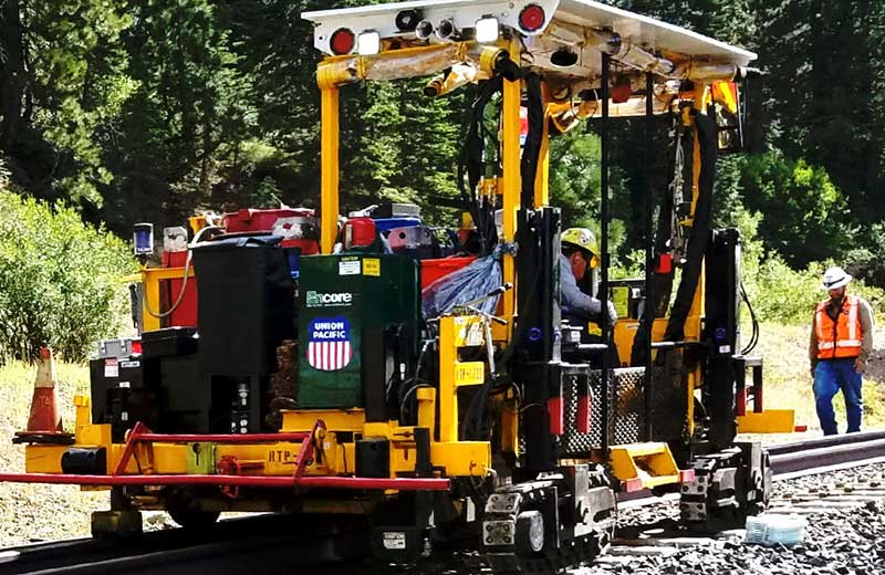 Encore Rail Systems Ride on tie plugger